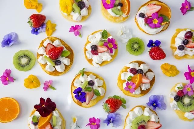 花のパンケーキ
