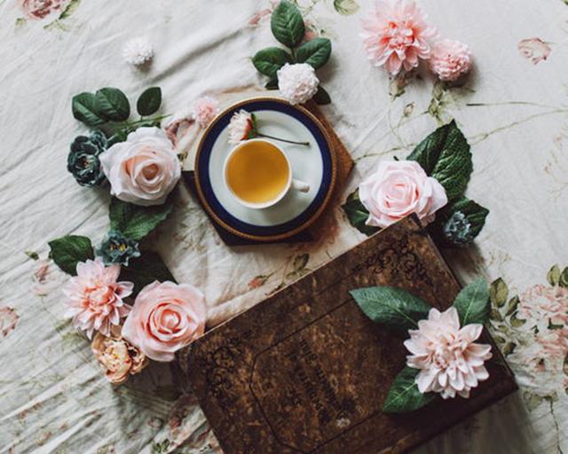 お花とお茶
